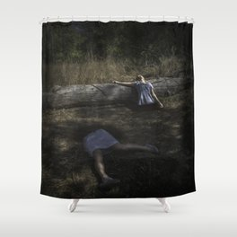 Torn Asunder Shower Curtain