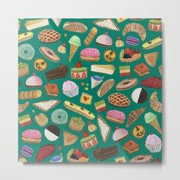 Desserts of NYC Green Metal Print