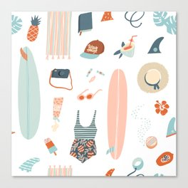Summer kit Canvas Print