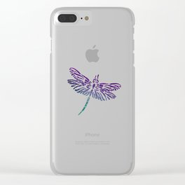 Shimmering Dragonfly Clear iPhone Case