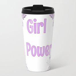 Girl power pink illutration Travel Mug