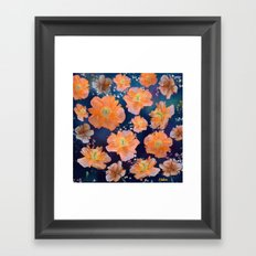 Poppies in Space Framed Art Print