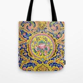 Floral Persian Tile Tote Bag