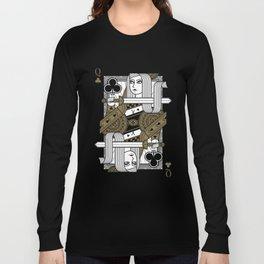 Omnia Suprema Queen of Clubs Long Sleeve T-shirt