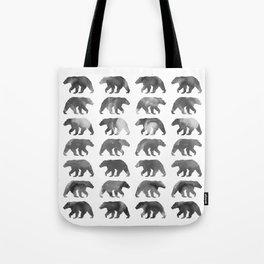 Watercolor Bear - Black & White Tote Bag