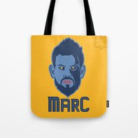 marc johns Tote Bags featuring Marc Gasol by Ric_Hardwood