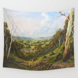 THE LOST SHEEP IN THE SCRUB Wall Tapestry