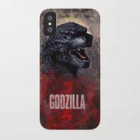 godzilla iPhone & iPod Cases featuring Godzilla by Denda Reloaded