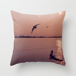 Fight to the Island Throw Pillow