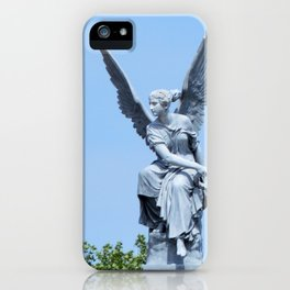 Angel and blue skies iPhone Case