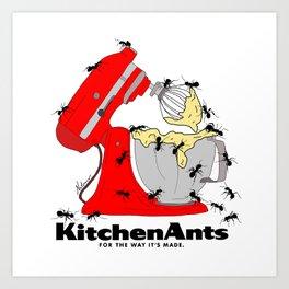 Kitchen Ants Art Print