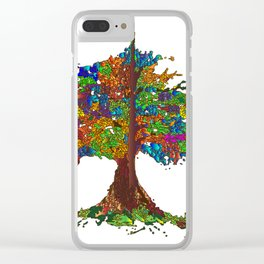 The Stained Glass Tree Clear iPhone Case