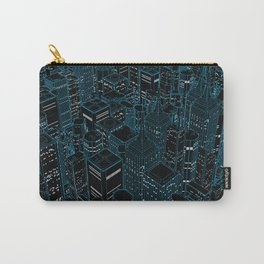 Night light city / Lineart city in blue Carry-All Pouch