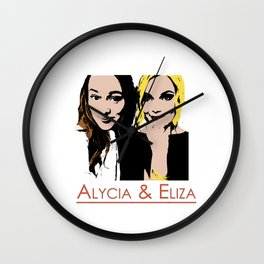 Alycia & Eliza Comic Wall Clock