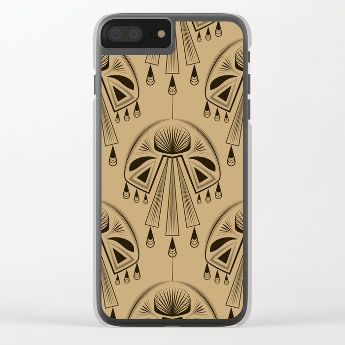 Abstraction. The medallion. Clear iPhone Case