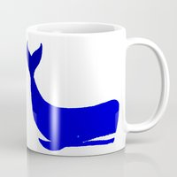 the whale Mugs featuring Whale by Good Sense