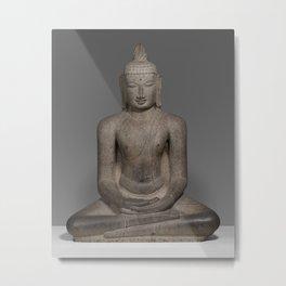 Buddha Shakyamuni Seated in Meditation (Dhyanamudra) Metal Print