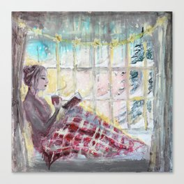 Reading Season:Wintertime Canvas Print