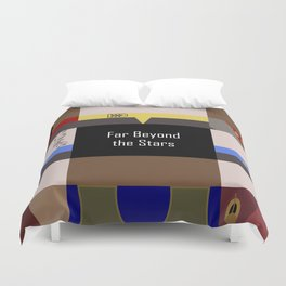 DS9 - Far Beyond the Stars - Minimalist Star Trek DS9 Deep Space Nine - startrek - Trektangles Duvet Cover