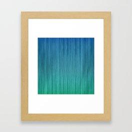 Tropical Island Aqua Blue Beach Hut Framed Art Print