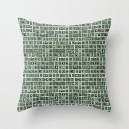 VINTAGE STAMPS Throw Pillow