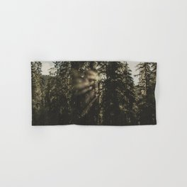 Sunset in the Woods - Nature Photography Hand & Bath Towel