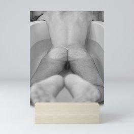 Man in Bathtub Mini Art Print