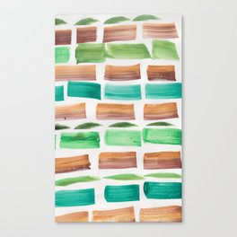 27    190304 Watercolour Painting Abstract Pattern Canvas Print
