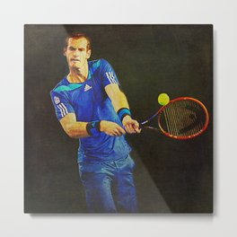 Murray Tennis Metal Print
