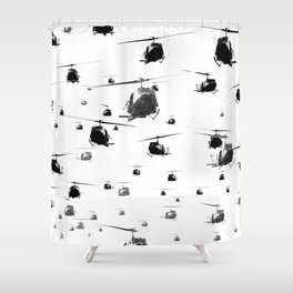 THE HELICOPTERS Shower Curtain