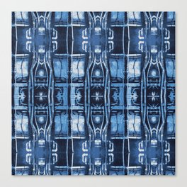 Cyanotype Tokyo Pipes  Canvas Print