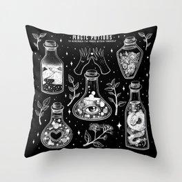 Magic Potions Throw Pillow