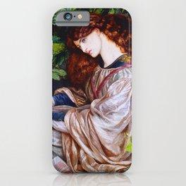 "Dante Gabriel Rossetti ""Pia de Tolomei"" iPhone Case"