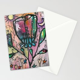 Bloom under sun moon and stars Stationery Cards