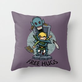 Legend of Zelda Wind Waker FREE HUGS T-Shirt Throw Pillow