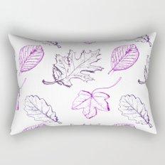 Leaves (purple) Rectangular Pillow