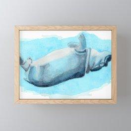 Somersault Baby Hippo - Underwater Fantasia Ballet Framed Mini Art Print