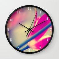 tulips Wall Clocks featuring tulips by Falko Follert Art-FF77