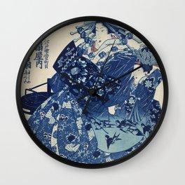 Utagawa Kuniyoshi's Courtesan Woman Remix Wall Clock