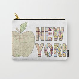 Hipster cool New York City Big Apple kitschy subway map wanderlust eighties travel logo print Carry-All Pouch