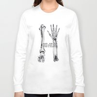 bones Long Sleeve T-shirts featuring bones by madbiffymorghulis