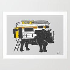 RhinoMobile Art Print