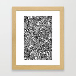 Cocoons and seeds Framed Art Print
