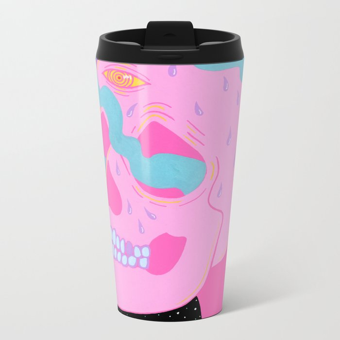 Burning On The Inside Metal Travel Mug