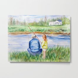 Fishing Memories Metal Print
