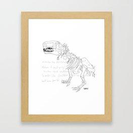 T Rex Framed Art Print