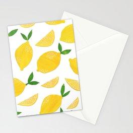 Lemon Cut Out Pattern Stationery Cards