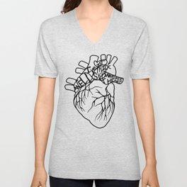 Elastic Heart Unisex V-Neck