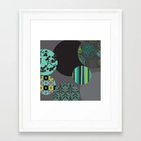 oriental Framed Art Prints featuring Oriental by thickblackoutline