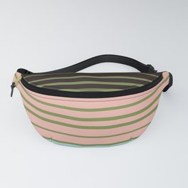 Four colors striped art homedecor Fanny Pack